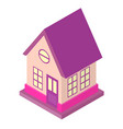 isometric house low poly design suburb 3d building vector image