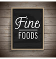 vintage poster for food and drinks vector image