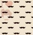 Vintage retro hipster mustache wallpaper vector image