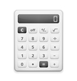 White Calculator vector image