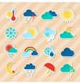 Weather stickers set vector image