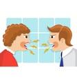 family quarrel vector image vector image