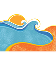 sea landscape vector image vector image