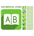 Open Handbook Icon and Medical Longshadow Icon Set vector image