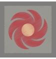 flat shading style icon weather vane vector image