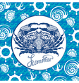 Blue crab vector image