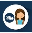 athlete girl sneaker sport style vector image