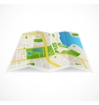 cbstract city map and river vector image