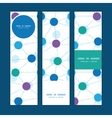 connected dots vertical banners set pattern vector image