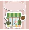 flower shop facade show-window vector image