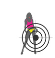 girl and target color vector image