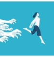 girl running away from problems vector image