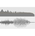 Gray sound waves on a white background vector image