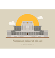 Kumsusan palace of the sun North Korea eps10 v vector image