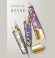 luxury lip balm cosmetics realistic vector image