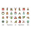 Mega New Year icons set Christmas isolated vector image