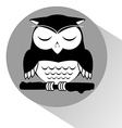 owl sleeping vector image