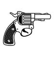 revolver weapon handgun vector image