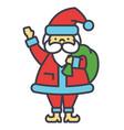 santa claus christmas winter holidays concept vector image
