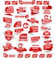 Set of stickers and banners vector image