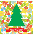 tree with gifts vector image
