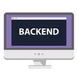 Web development computer display says vector image