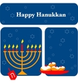 menorah and Hanukkah vector image vector image