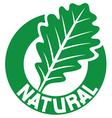 natural symbol vector image