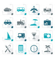 stylized travel transportation tourism vector image vector image