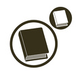 Book simple single color icon isolated on white vector image vector image