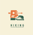 Hiking logo design template vector image