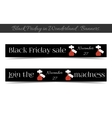 Banners Black Friday Sale in Wonderland vector image