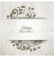 The vintage history card vector image vector image
