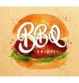 Burger BBQ kraft vector image vector image