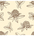 Decorative seamless pattern with clover vector image vector image