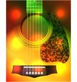 guitar closeup vector image vector image