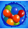 Balloons circle background vector image vector image
