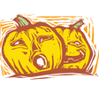 Two Jack-o-lanterns vector image vector image
