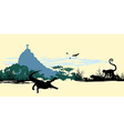 Wild jungle animals on the statue in Brazil vector image vector image