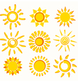 sun collection vector image vector image