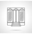 Business center facade flat line icon vector image