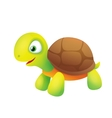 Cute Cartoon Turtle Smiling vector image