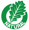 natural symbol vector image