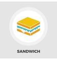 Sandwich icon flat vector image
