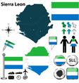 Sierra Leon map vector image