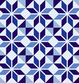 Traditional Portuguese blue mosaic tile pattern vector image