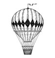 vintage air balloon engraving style vector image