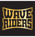 Wave riders t shirt typography graphics vector image