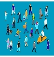People In Crowd Isometric Collection vector image