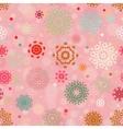 Retro Christmas Snowflake Pattern vector image vector image